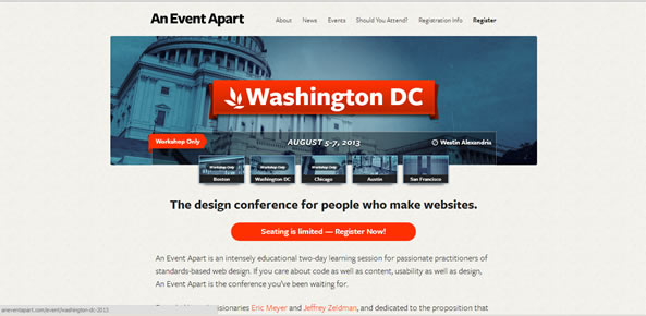 The NON-Definitive List of Good Event Website Designs