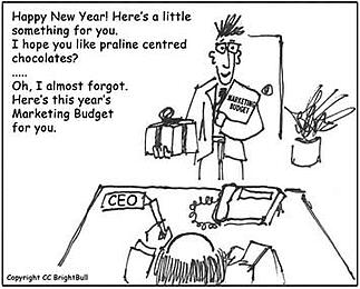 Marketing Budget cartoon