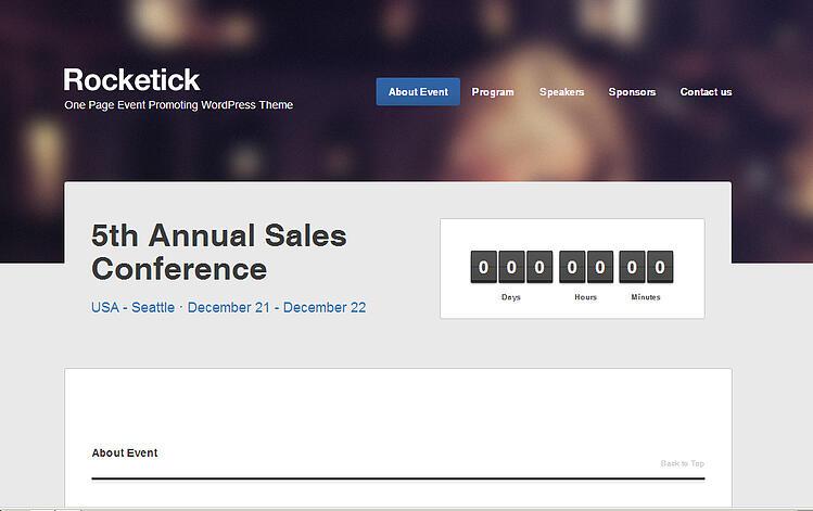 Rocketick-The-Best-Event-Website-Templates