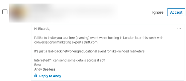 Event Sales Automation - LinkedIn Outreach Example-b