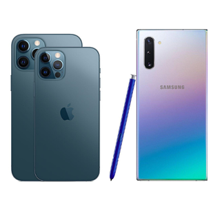 iPhone 12 Pro and Samsung Galaxy S10